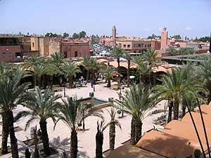 Ausblick über Marrakesch