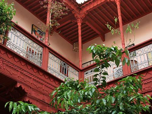 Innenhof eines Riads in Marokko