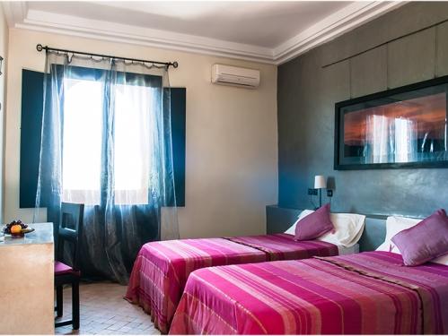 Hotelzimmer Ouarzazate Wüste Marokko