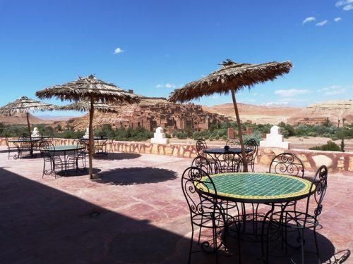 Terrasse mit Blick auf die Kasbah