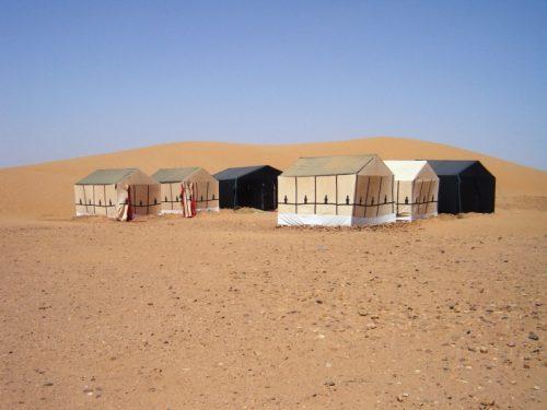 Camp in der Wüste Merzouga