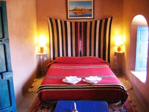 Hotelzimmer Ait Benhaddou Marokko Familienreise